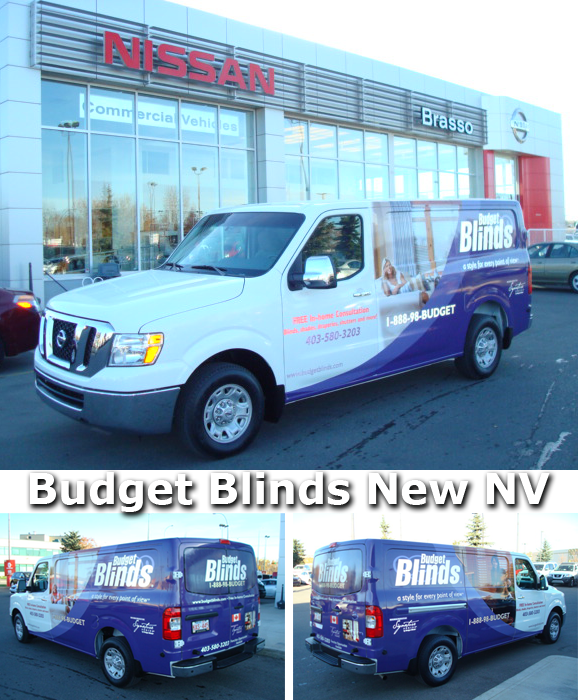 Budget Blinds Nissan Commercial Vehicle