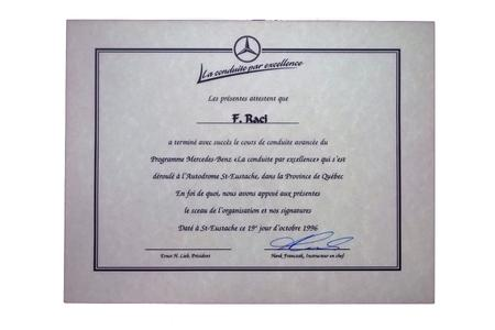 certification document