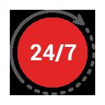 24/7 Customer Service Icon