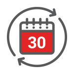 30 Day Exchange Calendar Icon
