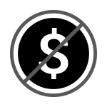 No Extra Fees Dollar Sign Icon