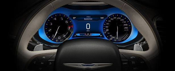 2016 Chrysler 200 Digital Gauges