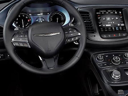 2016 Chrysler 200 interior view