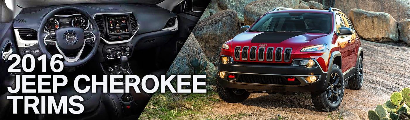 2016 Jeep Cherokee Trims