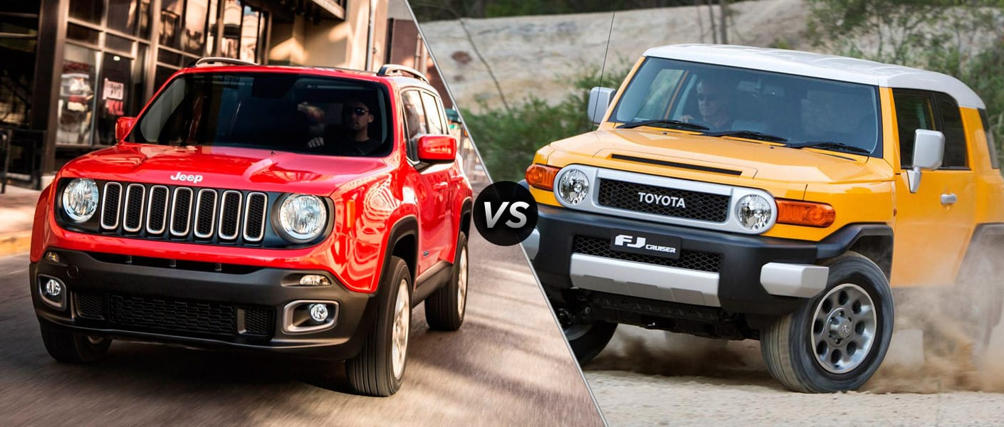 Jeep Renegade vs Toyota FJ Cruiser