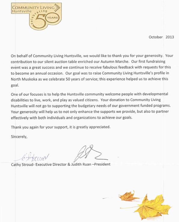 community-living-letter