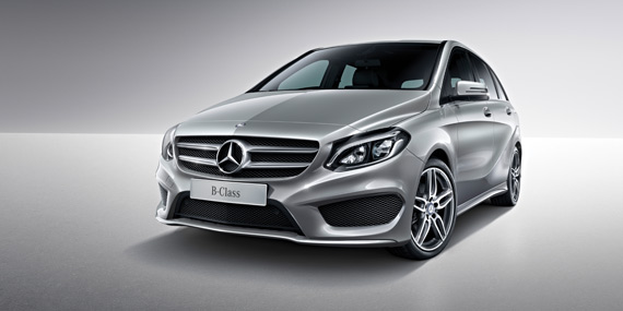 Mercedes-Benz B-Class adaptive braking technology