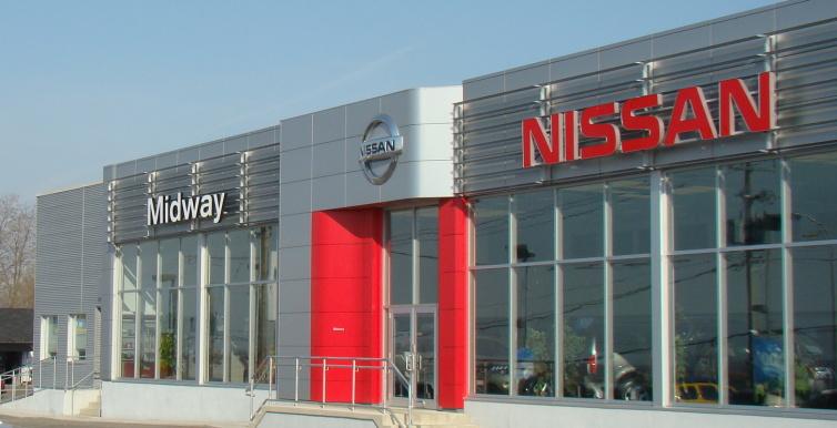 Midway Nissan dealership building