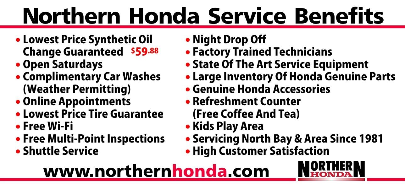 Northern Honda Service Benefits