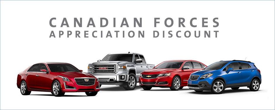 Canadian Forces Appreciation Discount