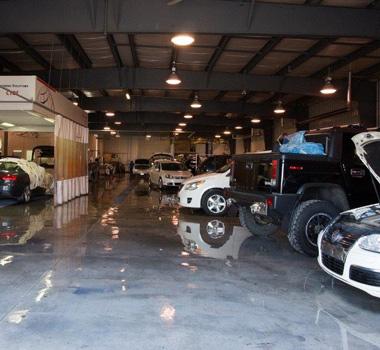 Collision repair centre interior