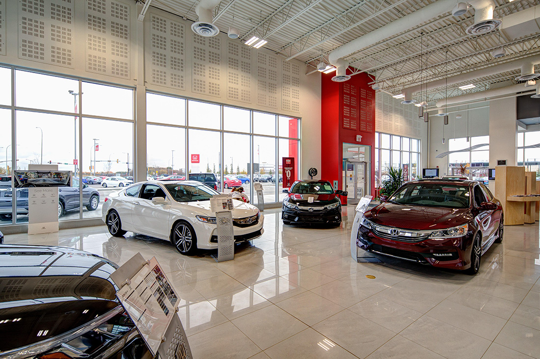 St. Albert Honda vehicle showroom