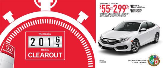 September Honda Offer