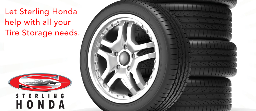 Tire storage at Sterling Honda