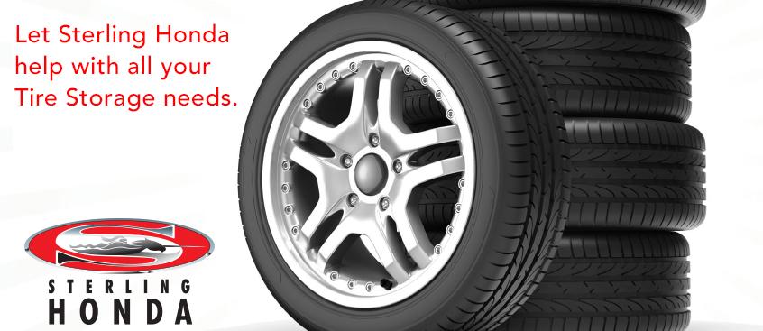 Tire storage at Sterling Honda