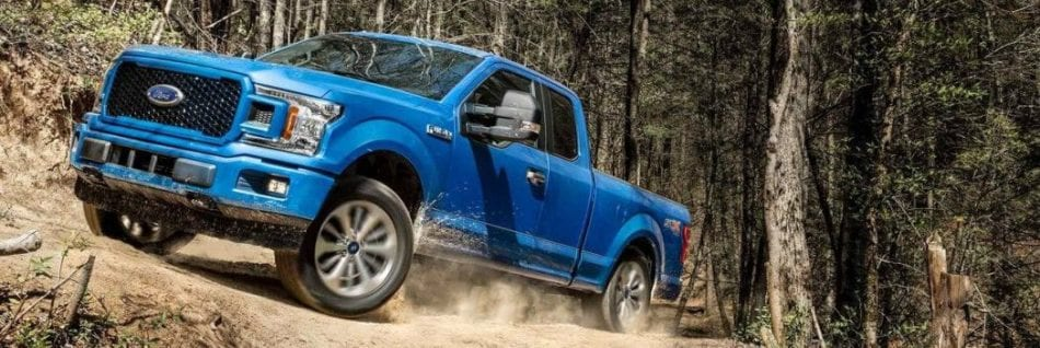 Ford F-150 blue truck lifestyle