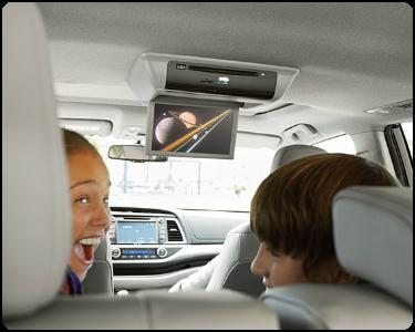 2018 Toyota Highlander Hybrid Interior Cabin Rear Seat Entertainment