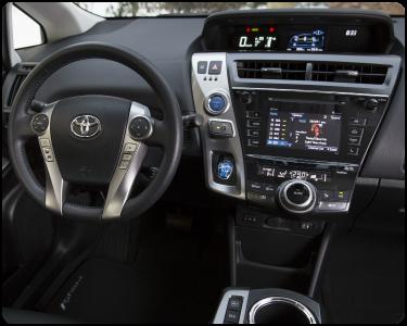 2018 Toyota Prius v Interior Cabin Dashboard