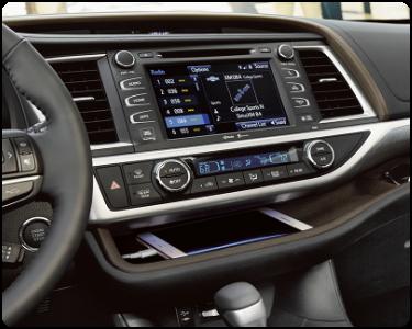 2018 Toyota Highlander Hybrid Interior Cabin Center Console Display Audio