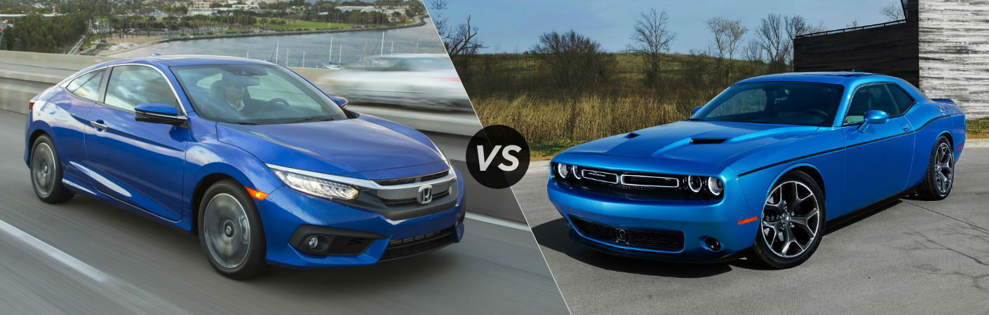 2016 Honda Civic Coupe vs 2016 Dodge Challenger