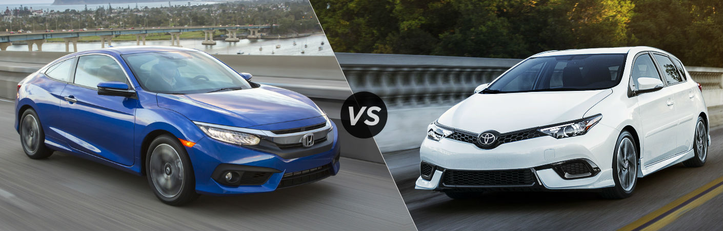 2016 Honda Civic Coupe vs 2017 Toyota Corolla iM