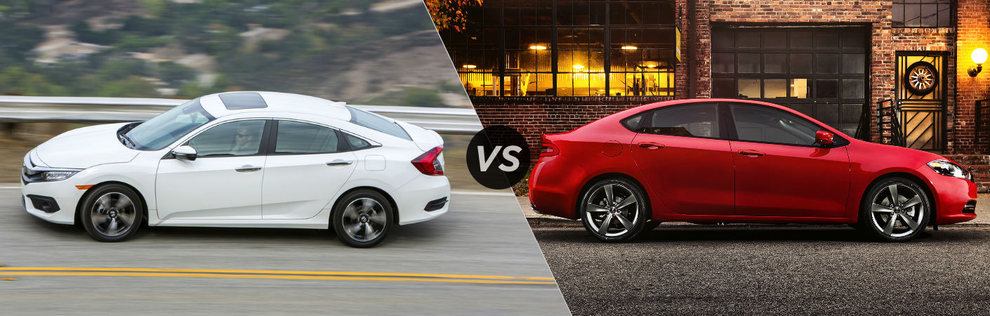 2016 Honda Civic Sedan vs 2016 Dodge Dart