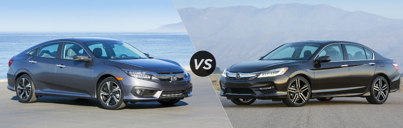 2016 Honda Civic Sedan vs 2016 Honda Accord Sedan