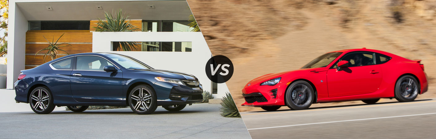 2017 Honda Accord Coupe vs 2017 Toyota 86