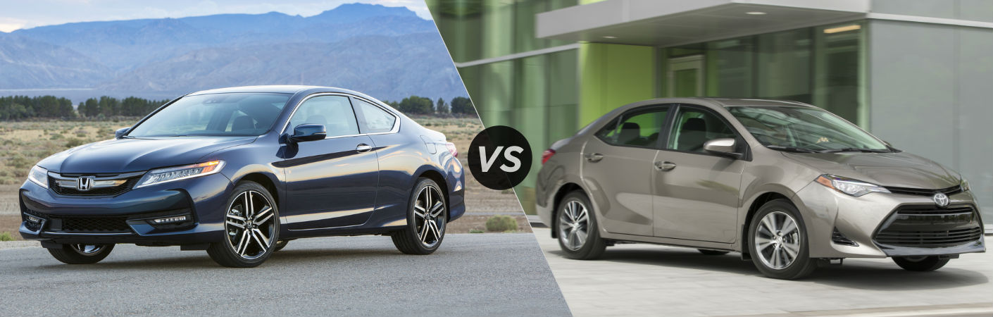 2017 Honda Accord Coupe vs 2017 Toyota Corolla