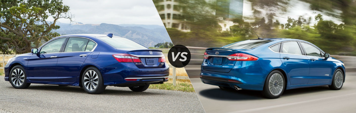 2017 Honda Accord Hybrid vs 2017 Ford Fusion Hybrid