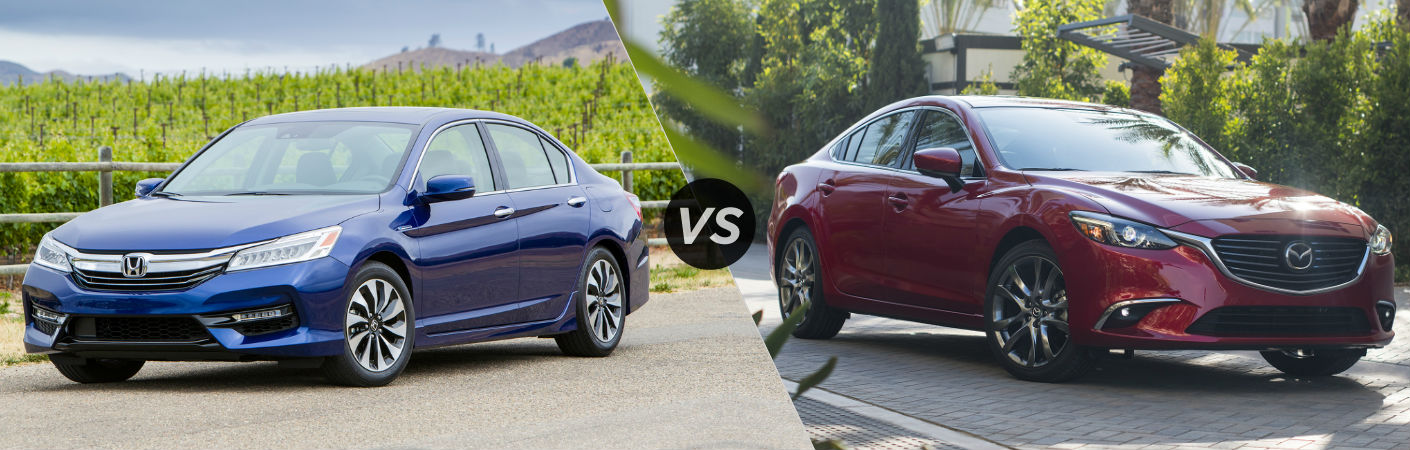 2017 Honda Accord Hybrid vs 2017 Mazda6