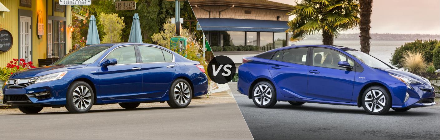 2017 Honda Accord Hybrid vs 2017 Toyota Prius