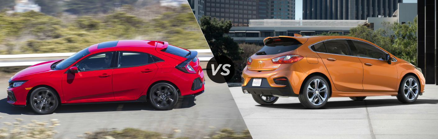 2017 Honda Civic Hatchback vs 2017 Chevy Cruze Hatchback