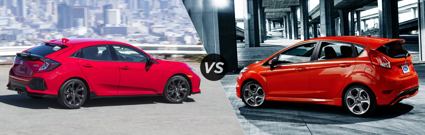 2017 Honda Civic Hatchback vs 2017 Ford Fiesta ST