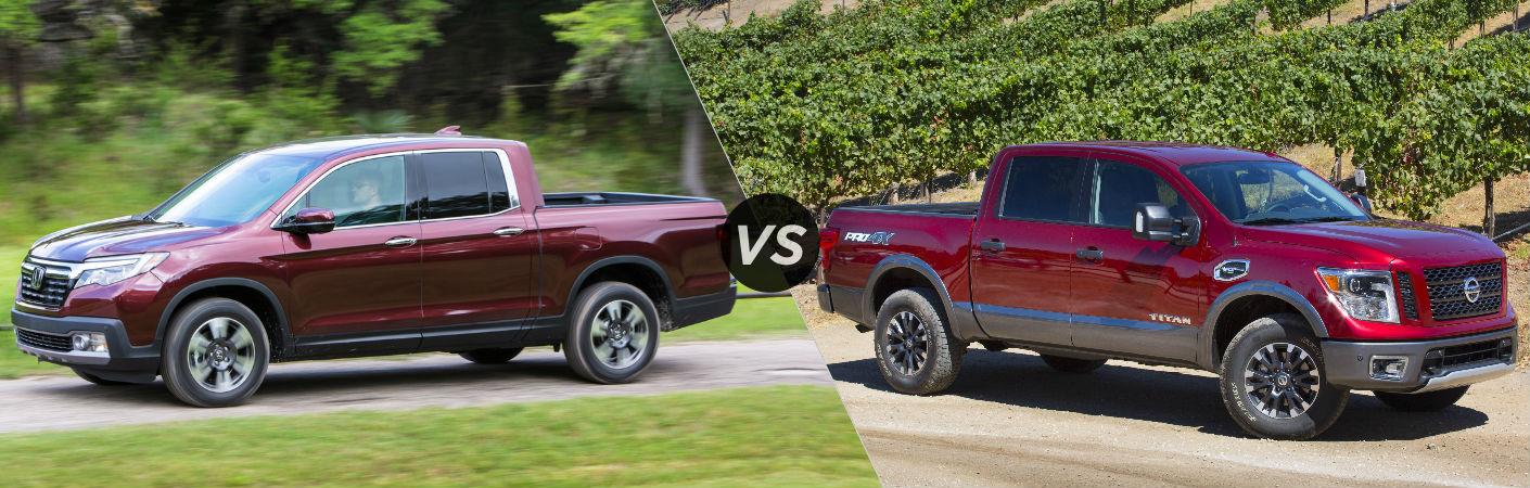 2017 Honda Ridgeline vs 2017 Nissan Titan